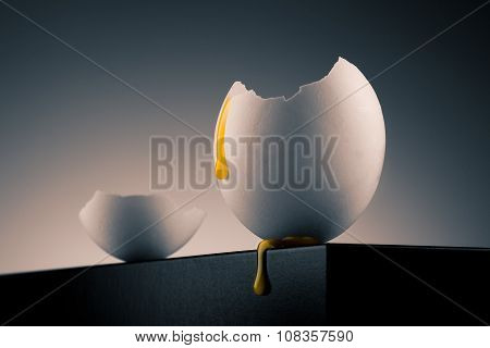 Egg Shell With Yolk
