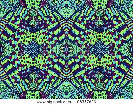 Zentangle Ornament Retro Background 5