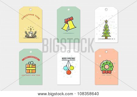 Set of Christmas Cards. Stock vector. Part II