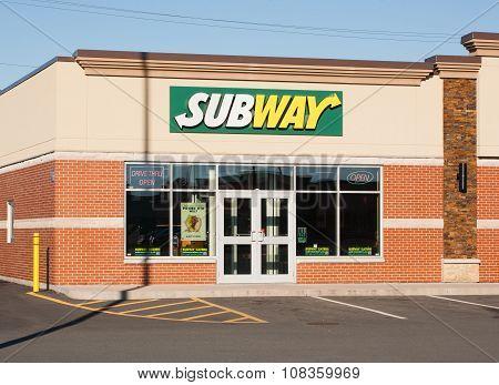Subway Restaurant Storefront