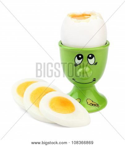Boiled egg in an egg-cup