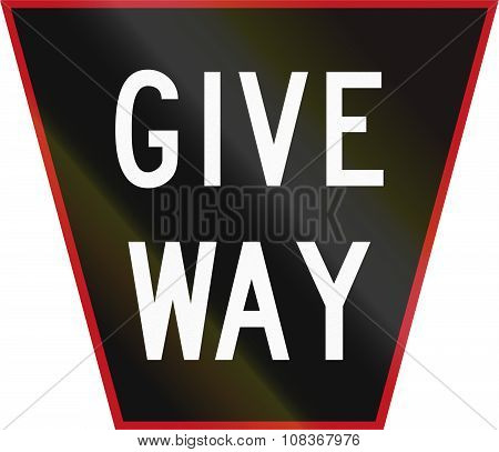 Old Version Of The Give Way Sign In New Zealand