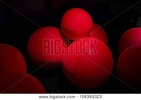 Red Balls Background