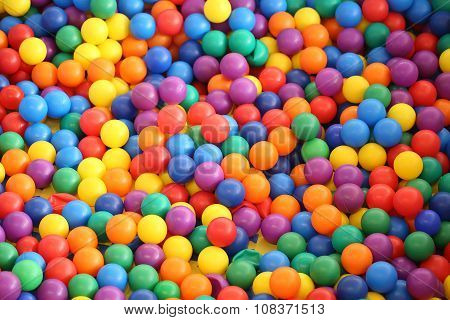 Multi Colored Bright Plastic Balls