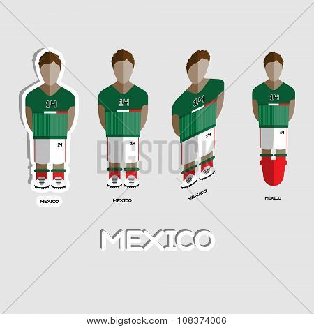 Mexico Soccer Team Sportswear Template