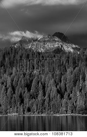 View Of Williams Peak From Redfish Lake.