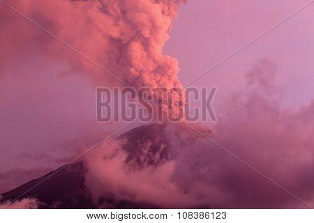Powerful Eruption Of Tungurahua Volcano