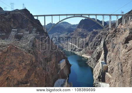 Mike O'Callaghan-Pat Tillman Memorial Bridge at Hoover Dam