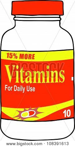 Daily Use Vitamins Keep you Healthy and Strong, Keep your Bones Strong, and Keep Your Mind Vibrant.