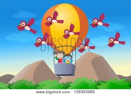 Kid Riding Hot Air Balloon