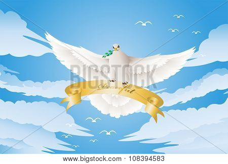 Dove With A Twig
