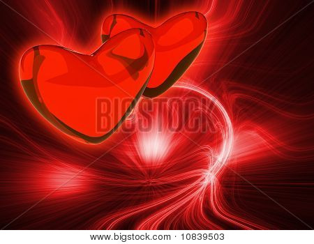 Abstract Red Color Background