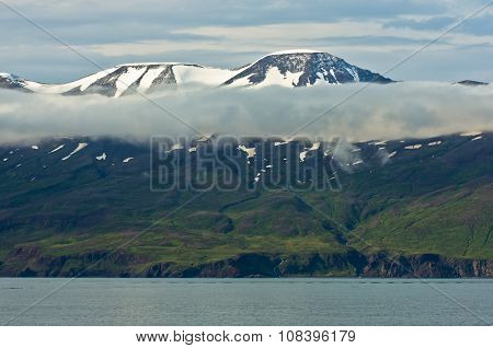North coast of Iceland on the shores of Skjalfandi Shaky bay