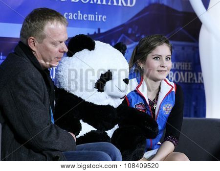 Julia Lipnitskaia (rus) And Her Second Coach Sergei Dudakov