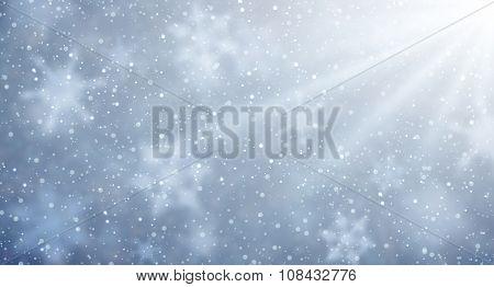 Winter aurora background. Vector paper illustration.