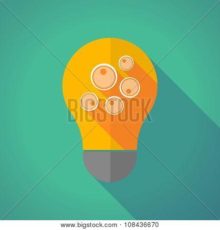 Long Shadow Vector Light Bulb With Oocytes