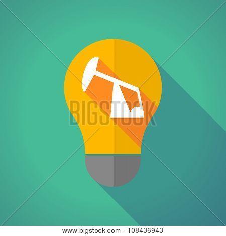 Long Shadow Vector Light Bulb With A Horsehead Pump