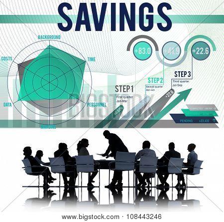 Saving Economy Finance Profit Banking Concept poster