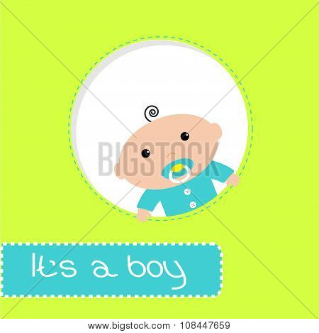 Peek-a-boo Baby Shower Card