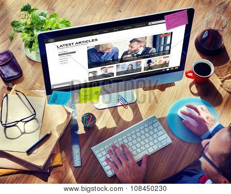 Article Webpage Advertising Announcement Concept