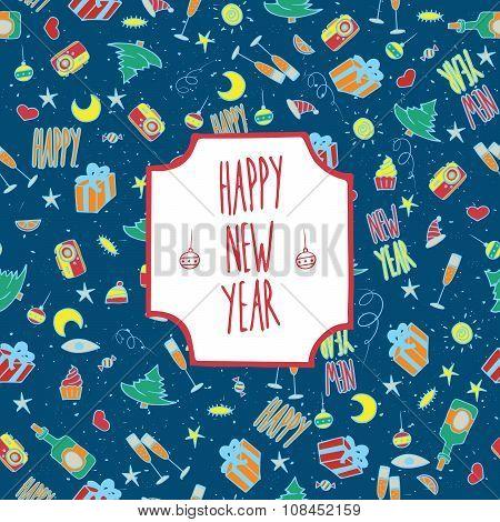 Festive Pattern Happy New Year