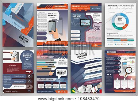 Business Brochure Template With Infographics And Icons