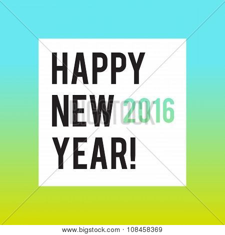 Square New Year design with gradient background