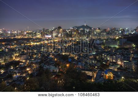 Seoul Night View From Inwangsan