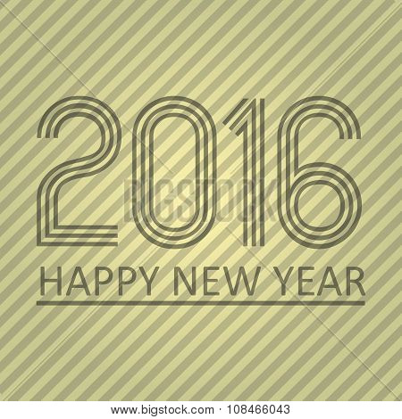 Happy New Year 2016 On The Striped Paper Background Eps10