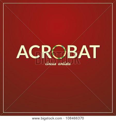 Acrobat logo, vector illustration