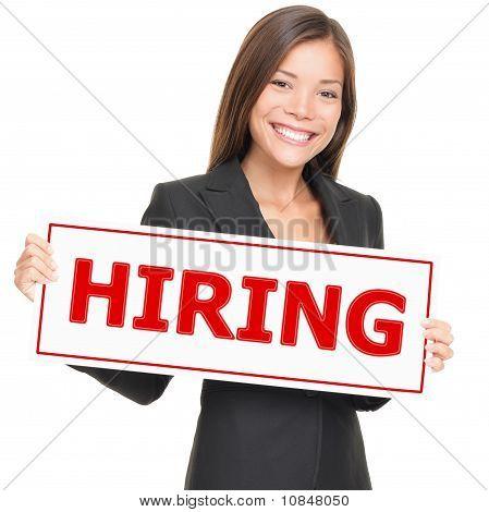 Job Woman Hiring