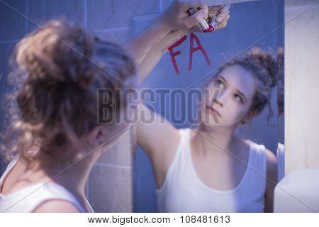 Writing On Bathroom Mirror