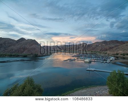 sunset at willow beach arizona nevada border, National Fish Hatchery