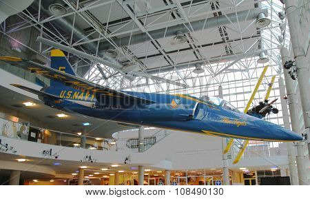 Blue Angels Grumman F-11 Tiger on display