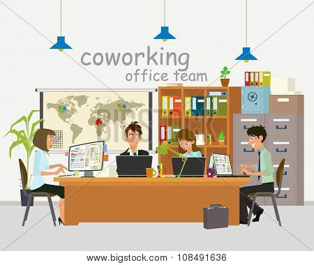 Concept of the coworking center.