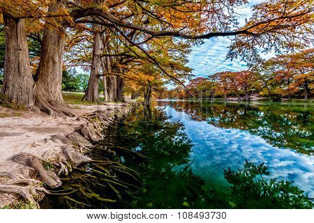 Autumn on the Emerald Frio River at Garner State Park, Texas