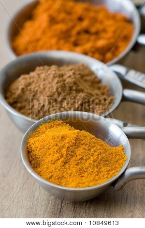 Measuring Spoons With Spices