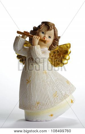 Cherub flautist ceramic objects