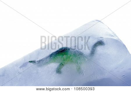 Dinosaur in a block of ice