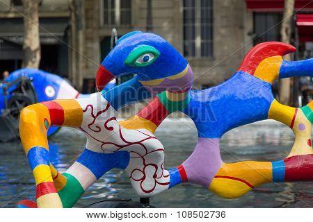 Fountain Pompidou Paris