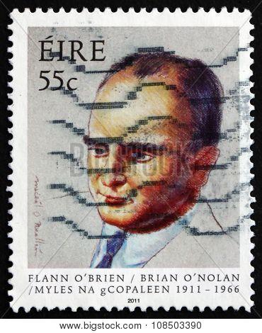 Postage Stamp Ireland 2011 Brian O'nolan, Irish Novelist