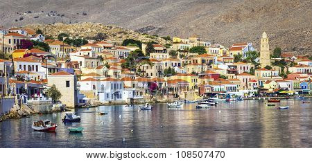 beautiful Greek islands - Chalki in Dodecanese