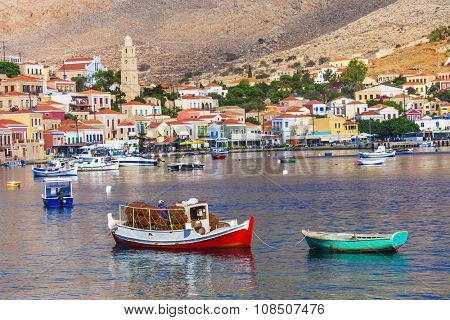 traditional Greece -pictorial Chalki island