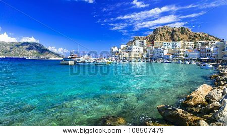 beautiful islands of Greece - Karpathos with pictorial capital Pigadia