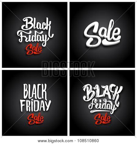 Black Friday Sale. Vector backgrounds