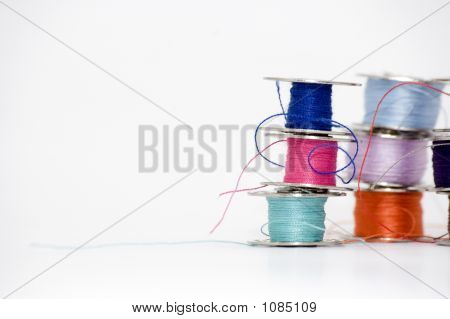 Stacked Sewing Threads