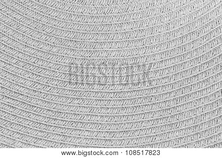 Woven straw background or texture, gray colour.
