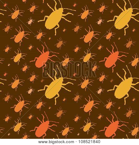 Colorful insects vector biology collection