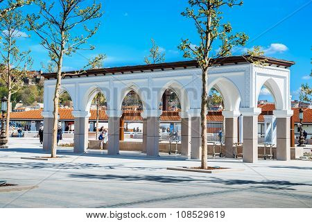 Outer yard of ancient mosque in Ankara city