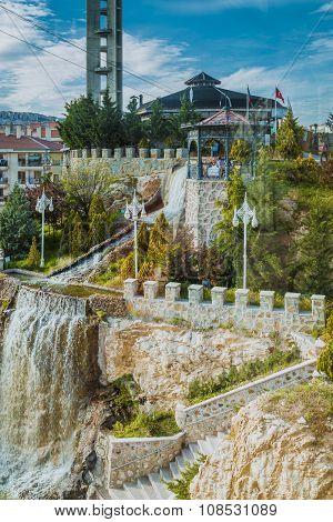 Natural waterfall in Turkey